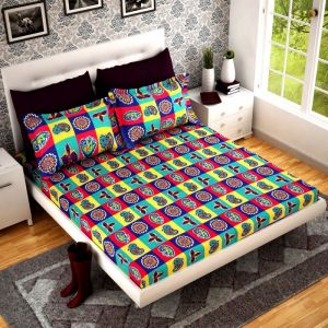 Home Castle 3d Printed Super Soft Double Bedsheet 2 Pillow Covers Pc-dbl-3d41