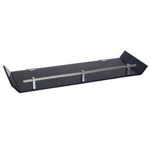 Sagar 18x6 Inch Black Marble Designed Acrylic Wall Shelf