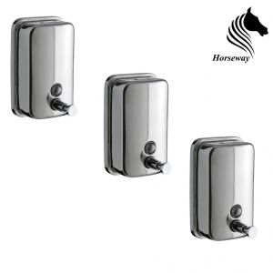 Horseway Stainless Steel Soap Dispenser - 1000ml - Set Of 3