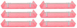 Horseway Pink Color Marble Designed Acrylic Wall Shelf - 12x5 Inch - Set Of 6
