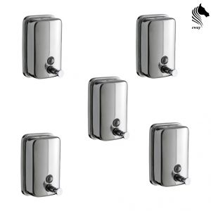 Horseway Stainless Steel Soap Dispenser - 1000ml - Set Of 5