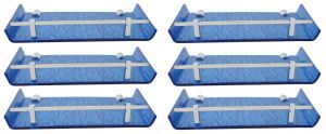 Horseway Blue Color Marble Designed Acrylic Wall Shelf - 12x5 Inch - Set Of 6