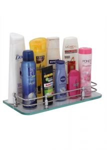 Zahab Glass Bathroom Shelf- 12in