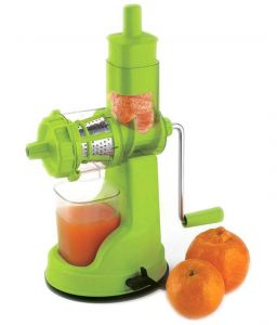 Floraware Green Colour Fruit And Vegetable Juicer With Steel Handle