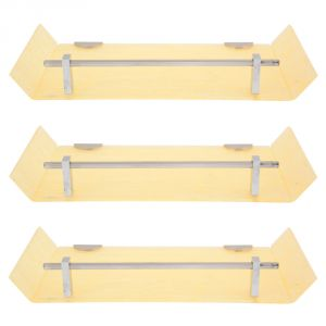 Bathroom shelves - Horseway Ivory Color Marble Designed Acrylic Wall Shelf - 12x5 Inch - Set of 3