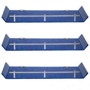 Sagar 18x6 Inch Blue Marble Designed Acrylic Wall Shelf - Combo Of 3