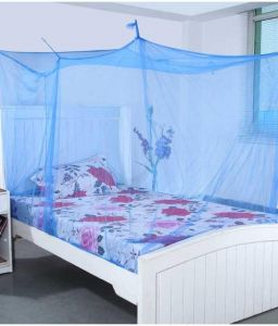 Shahji Creation Blue Polyester Single Bed Mosquito Net