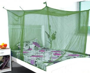 Shahji Creation Double Bed Green 6x6 Feet Best Quality Mosquito Net (green)