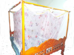 Shahji Creation Double Bed Multicolor Polystar Printed Mosquito Net (multicolor)