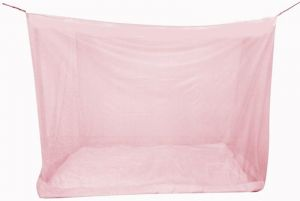 Shahji Creation Double Bed Best Quality 6x6.5 Feet With Cotton Brador Multicolor Mosquito Net (pink)