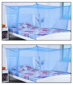 Shahji Creation Blue Polyester Mosquito Net Buy One Get One