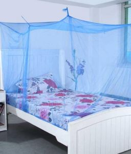 Shahji Creation Blue Polyester Double Bed Mosquito Net