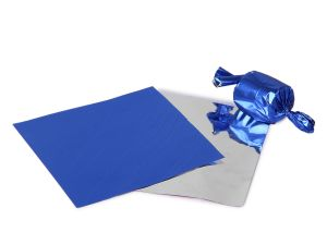 Gift wrap papers - Meena foil plain  Blue paper for chocolate & sweet wrapping pack of  300