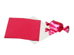 Meena Foil Plain Pink Paper For Chocolate & Sweet Wrapping Pack Of 300