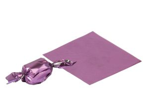 Gift wrap papers - Meena foil plain  PURPLE paper for chocolate & sweet wrapping pack of  1200