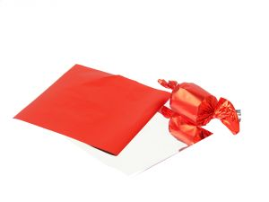 Gift wrap papers - Meena foil plain  Red paper for chocolate & sweet wrapping pack of  600
