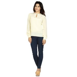 Tops & Tunics - Blu Finch  Women's Crepe Yellow Plain Top 40NT34Y