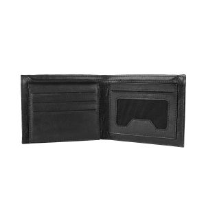 Kara Black Color Leather Two Fold Wallet For Men