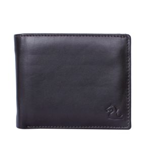 Kara Brown Color Leather Two Fold Wallet For Men