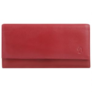 Kara Red Color Leather Wallet For Women