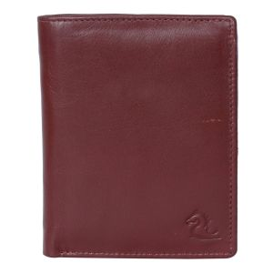 Kara Tan Brown Color Leather Two Fold Wallet For Men