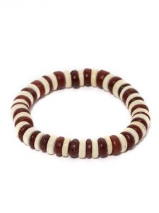 Tipsyfly Western Redwood Beaded Bracelet For Men-011mob