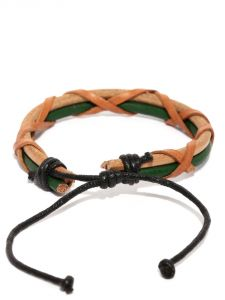 Tipsyfly Western Ubud Leather Bracelet For Men-015mob
