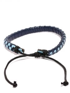 Tipsyfly Western Blue Checks Bracelet For Men-019mob