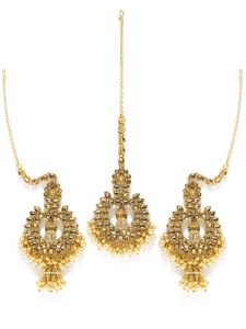 Tipsyfly Raat Rani Ethnic Maang Tikka Set For Women-1008hg