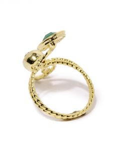 Tipsyfly Western Emerald Swirl Ring For Women-114r