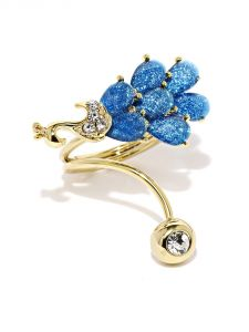 Tipsyfly Western Azure Peacock Ring For Women-115r