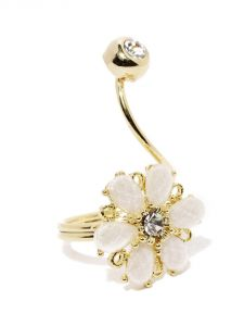 Tipsyfly Western Blanco Blossom Ring For Women-116r