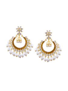 Tipsyfly Post & Back Closure Brown Alloy Chandbalis Earrings For Womens(code-1173e)