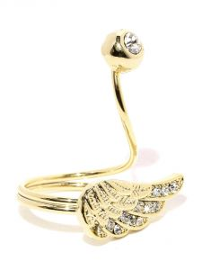 Tipsyfly Western Angel Wing Ring For Women-118r
