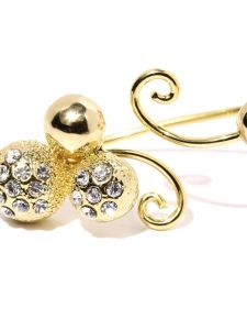 Tipsyfly Western Golden Ball Double Ring For Women-120r
