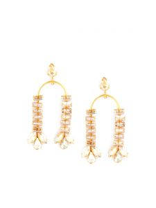 Tipsyfly Post And Back Metal Crystal Swing Earrings For Women