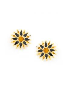 Tipsyfly Post And Back Metal Hazrat Studs Earrings For Women