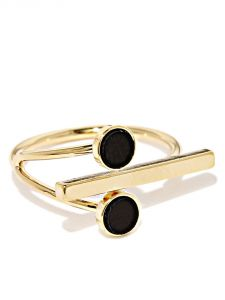 Tipsyfly Western Black Bar Ring For Women-128r