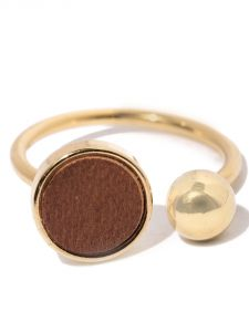 Tipsyfly Western Tan And Gold Ring For Women-129r