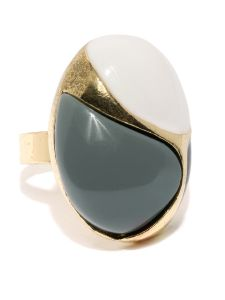 Tipsyfly Party Wear Grey Casa Ring For Women (1 Ring)
