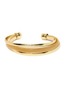 Tipsyfly Party Wear Elegant Gold Cuff Bracelet For Women (1 Kada)