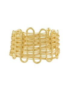 Tipsyfly Metal Picket Fence Cuff Bracelet For Women(code-163ob)