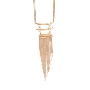 Tipsyfly Gold Color Alloy Flirty In Fringe Necklace For Women_182n