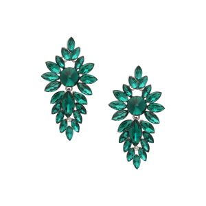 Tipsyfly Alloy Push Back Emerald Decadence Earrings Drop Earring For Women_259e
