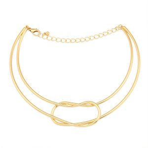 Tipsyfly Gold Color Alloy Infinitely Chic Choker Necklace For Women_279n