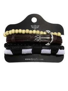 Men's Bracelets - Tipsyfly Party Wear Earthyset Bracelet For Men (4 Bracelet)