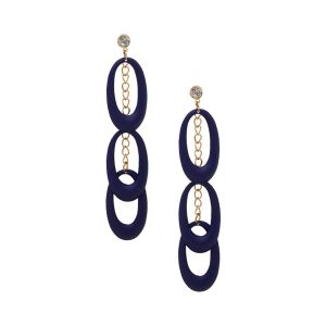 Tipsyfly Alloy Push Back Diva Dance Earring Drop Earring For Women_354eblue