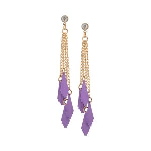 Tipsyfly Alloy Push Back Flirty Fin Tassel Drop Earring For Women_355eprl