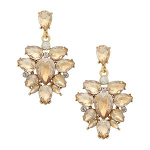Tipsyfly Alloy Push Back The Exotic Crystal Earring Drop Earring For Women_504e
