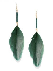 Tipsyfly Western Ink Green Earrings For Women-536e